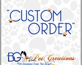 RESERVED for Zayne and Zoey Bg Pet Creations Pet or Baby Blanket 25 x 39