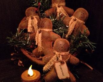 Grubby Primitive Gingerbread Man Bowl Fillers