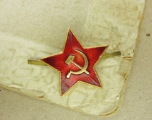 Vintage Soviet Pin - Red Star - f22