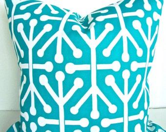 TEAL THROW PILLOWS Teal Throw Pillow Covers Aqua Turquoise Throw pillows Teal Indoor Outdoor Pillows Teal Outdoor Throw Pillows 16 18x18 20