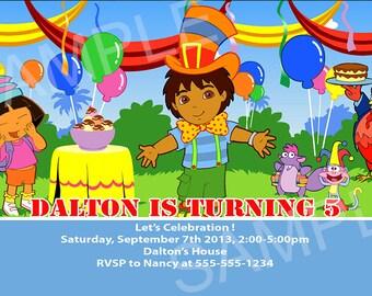 Dora Invitation - Printable Dora Birthday Invitation