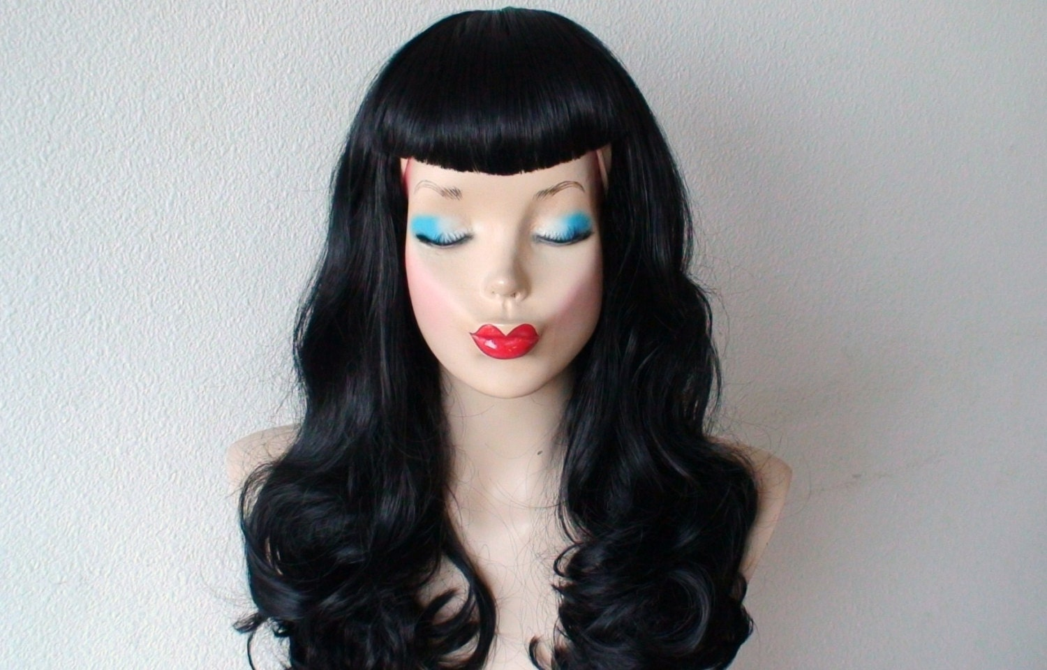 Bettie Page Hairstyle Inspired Wig U Bangs Wig Pin By