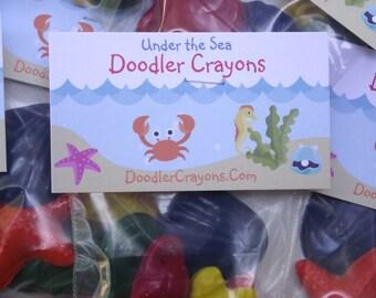 Seashell Crayons  -5 sets of 5 Crayons Party Favors Ocean Beach