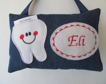 Tooth Fairy Pillow Personalized Denim