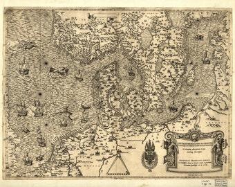 Old maps, World map print , World map, 138
