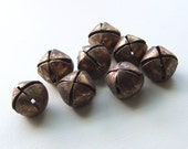 Vintage Brass Jingle Bell Beads or Buttons