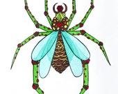 Set of Imaginary Bug Study Collection PRINT ILLUSTRATION ART