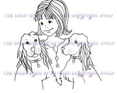 A digital stamp/image instant download.... Best friends