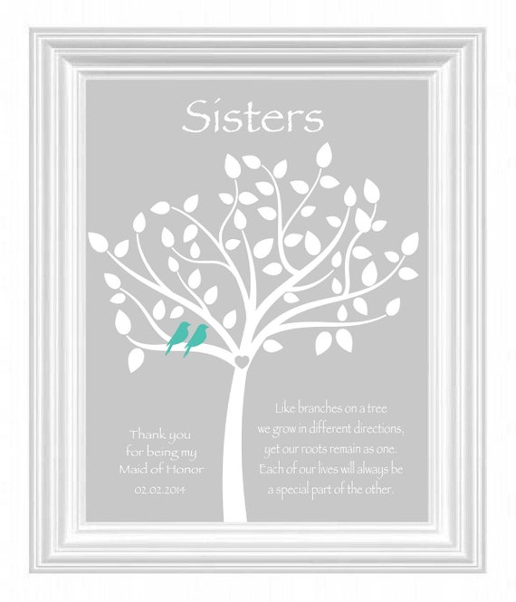 Sisters Personalized GiftMaid of Honor Gift -Wedding Gift for ...