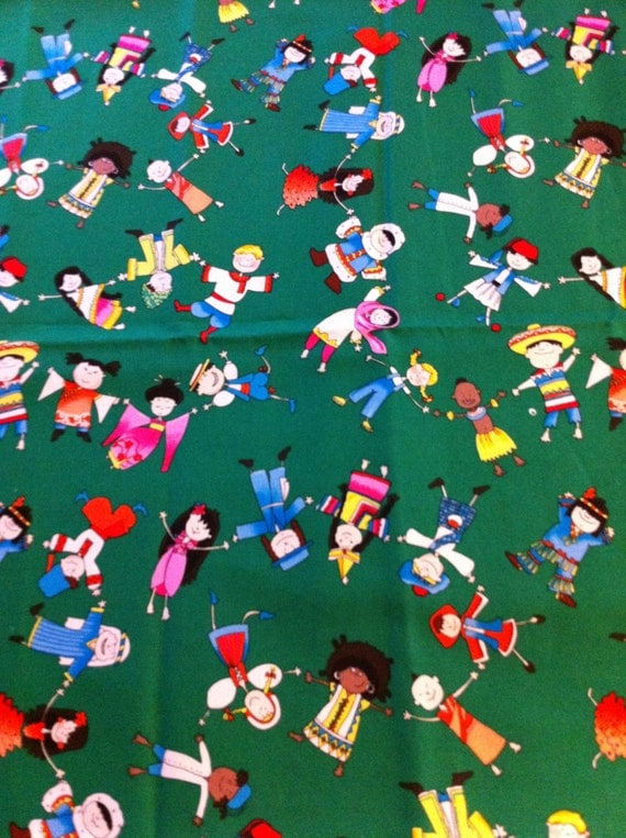 Children of the world 1 2 yard cotton fabric by camillequilts for Children of the world fabric
