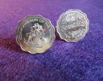 Bahama Islands Coin Cufflinks