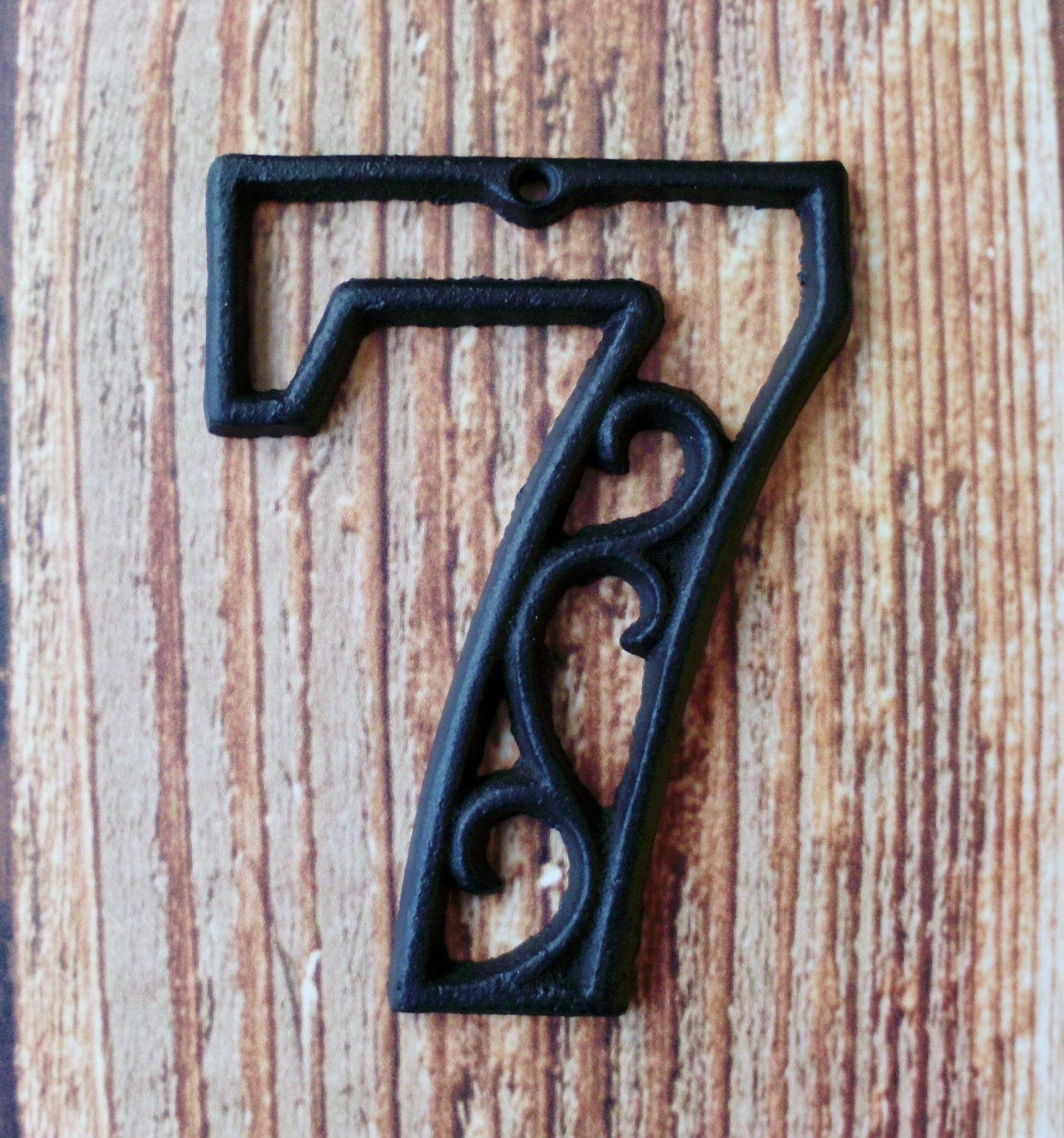house number seven cast iron wall hangers decorative victorian. Black Bedroom Furniture Sets. Home Design Ideas