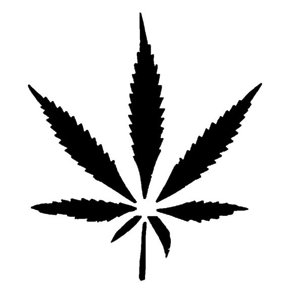 Items Similar To Marijuana Leaf Stencil On Etsy