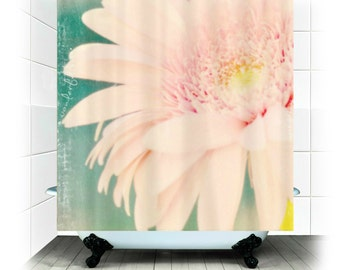 Fabric Shower Curtain  - Wonderful - Original Photography by RDelean Designs - pink, flower, sweet, summer, July