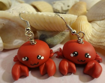 Kawaii Crab Earrings