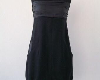 Grey wool and silk dress Luci Lü