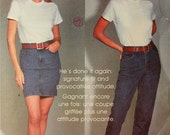 Jeans & Denim Skirt by Calvin Klein - 1990's - Vogue Pattern 2850  Uncut   Size 10-12-14