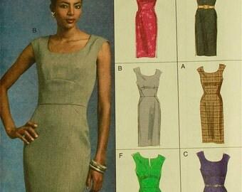 "Dress, Seam Detail - 2000's -  Vogue Options Pattern 8594 Uncut  All Sizes 18-20-22-24  Bust 40-42-44-46"""