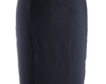 Baylis & Knight Black Lanson High Waisted GIRDLE Strong Hold-In Wiggle Pencil Skirt Dita Burlesque Office