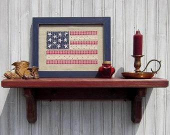 Framed calico American flag