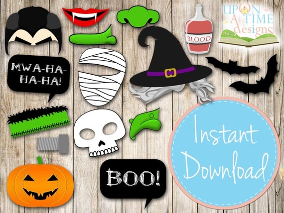 Gallery For gt Photo Booth Props Printable Halloween