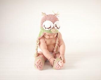 Baby Owl Hat/Sleepy owl Photo Prop
