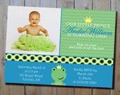 Frog Prince Birthday Invitation - Digital Boy's Froggie Birthday Party Printable Invitation