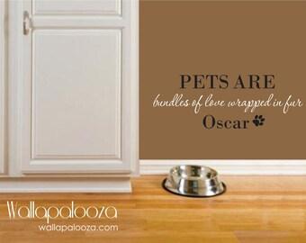 Pet Wall Decal - Pet Wall Decor -  Pet Name wall decal - Dog wall decal - Animal wall decal - Wall Decal - Wall Decor