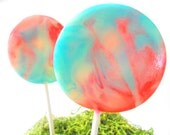 Cotton Candy Carnival Gourmet Lollipops - Pick Your Size - Luxe Lollies - Carnival Theme Party - Circus Theme - Wedding Favors