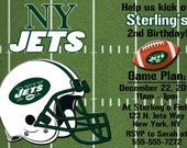 New York Jets Football Invitations OR Thank you card