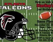 Atlanta Falcons Football Invitations OR Thank you card