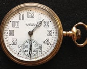 Steampunk - 1916 Waltham Pocket watch - 7J - 16S - Open Face