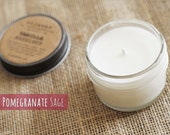 Pomegranate Sage, 4oz Soy Candle in a Reusable Glass Jar