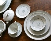 Pristine Noritake Chaumont pattern service for 8 made in Japan