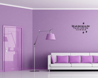 Every girl should have two things: a dog, Quote Wall Decal Vinyl  Sticker (CT005)