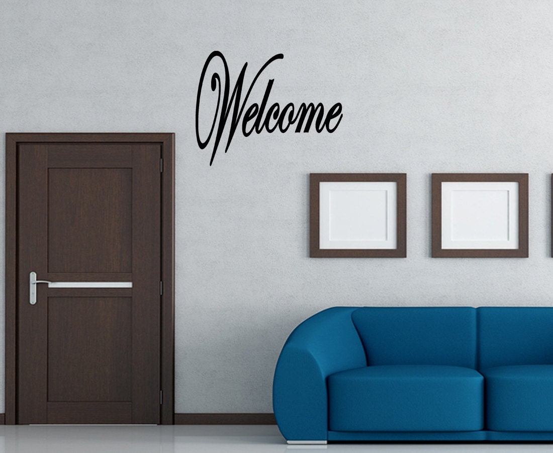 Wall Quotes Wel e Decal wall art vinyl decal Removable Wall