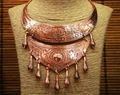Copper Nomad Hill Tribe Necklace Miao Hmong Ethnic Tribal Statement Jewelry
