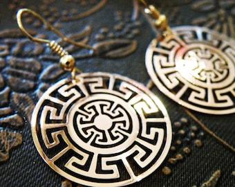 Aztec Gold Earrings