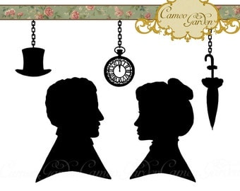 Elegant Digital Clipart by CameoGarden on Etsy