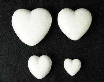 3D Polystyrene White Heart Shapes Foam Styrofoam Smoothfoam Valentine's Day Ideas Craft Activity DIY Party Decoration Valentines Day CDF6