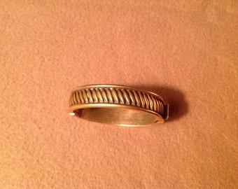 Vintage Gold Tone Bangle Bracelet