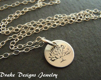 Tree Necklace dainty Sterling Silver necklace