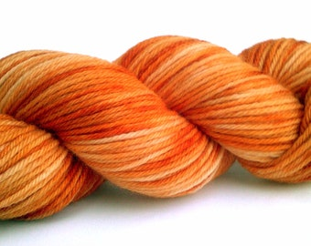 Variegated DK Weight 100% Organic Merino Wool Yarn - Pumpkin Punch