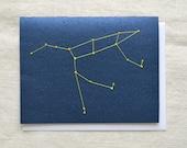 Ursa Major Constellation - Big Dipper - Embroidered Card