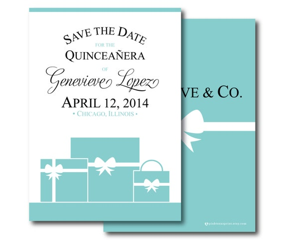 Items similar to Quinceanera or Sweet Sixteen Invitation or Save the Date - Digital File or ...
