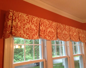 "Custom Wide Width Valance PEYTON Hidden Rod Pocket Valance fits 87""- 110"" window Made with your fabric, Includes LABOR and LINING"