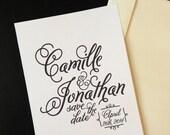 CUSTOM DESIGN - Printable Wedding Save the Date Invitation - Elegant Wedding