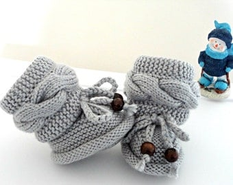 Baby Shoes Knitted Baby Booties Crochet Shoes Newborn Booties Crochet Baby Gift