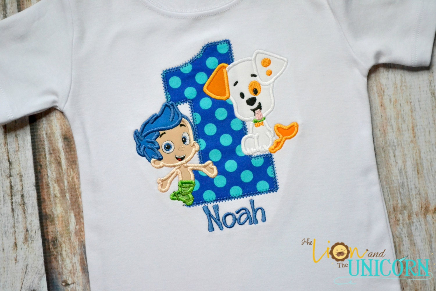 bubble guppies first birthday shirt number can be changed
