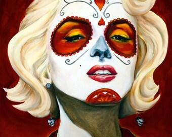 """Marilyn Monroe, Dia de los Muertos  8""""x10"""" Photo Reproduction"""